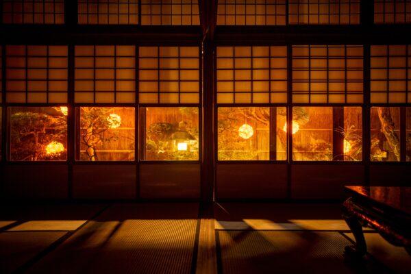 町家ライトアップ  西陣冨田屋